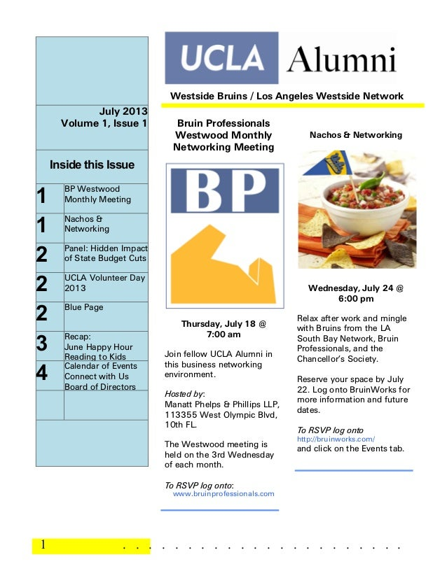 1 . . . . . . . . . . . . . . . . . . . . . . July 2013 Volume 1, Issue 1 Inside this Issue 1 BP Westwood Monthly Meeting ...