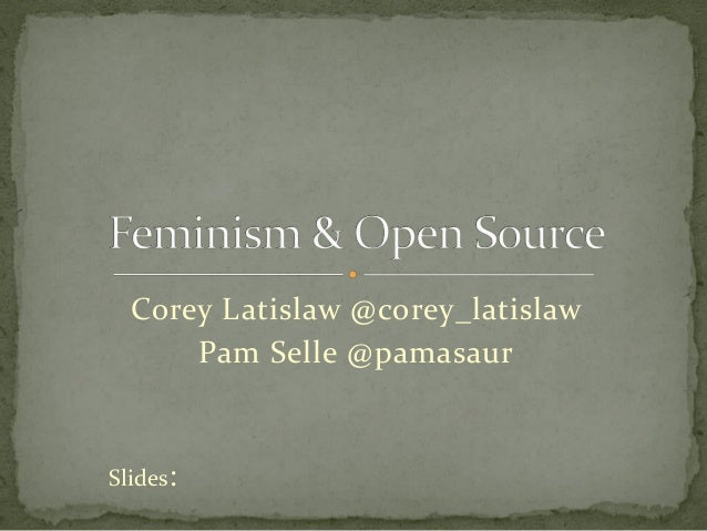 Feminism & Open Source Contribution