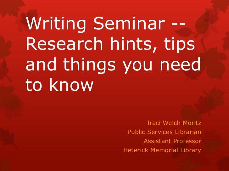 Writing Seminar Cullen