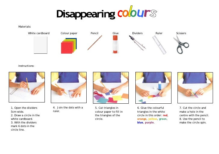 Materials:               White cardboard        Colour paper         Pencil           Glue        Dividers          Ruler ...