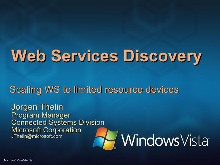 Web Services Discovery for Devices