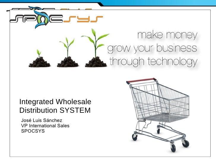 FY09 CampusAmbassadorPreliminary Strategy Integrated Wholesale Distribution SYSTEM José Luis Sánchez VP International Sale...