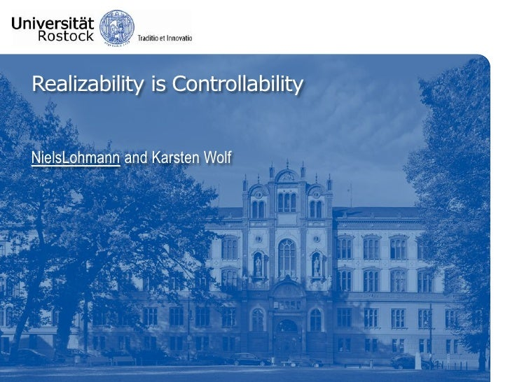 Realizability is Controllability