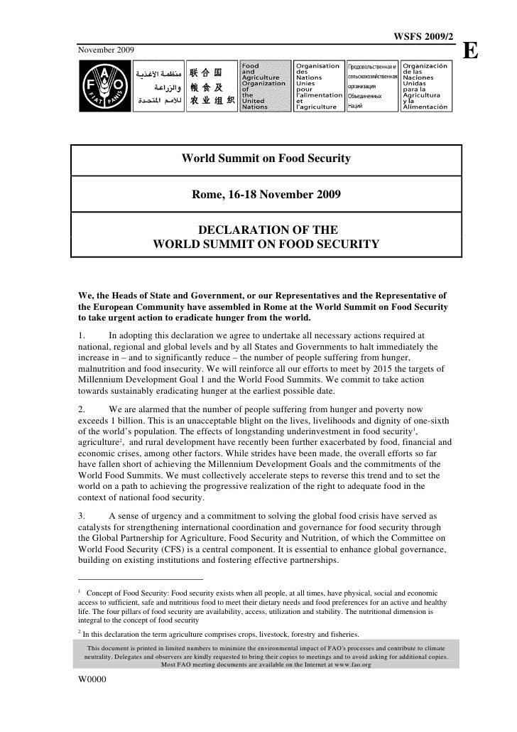 Wsfs09 Declaration
