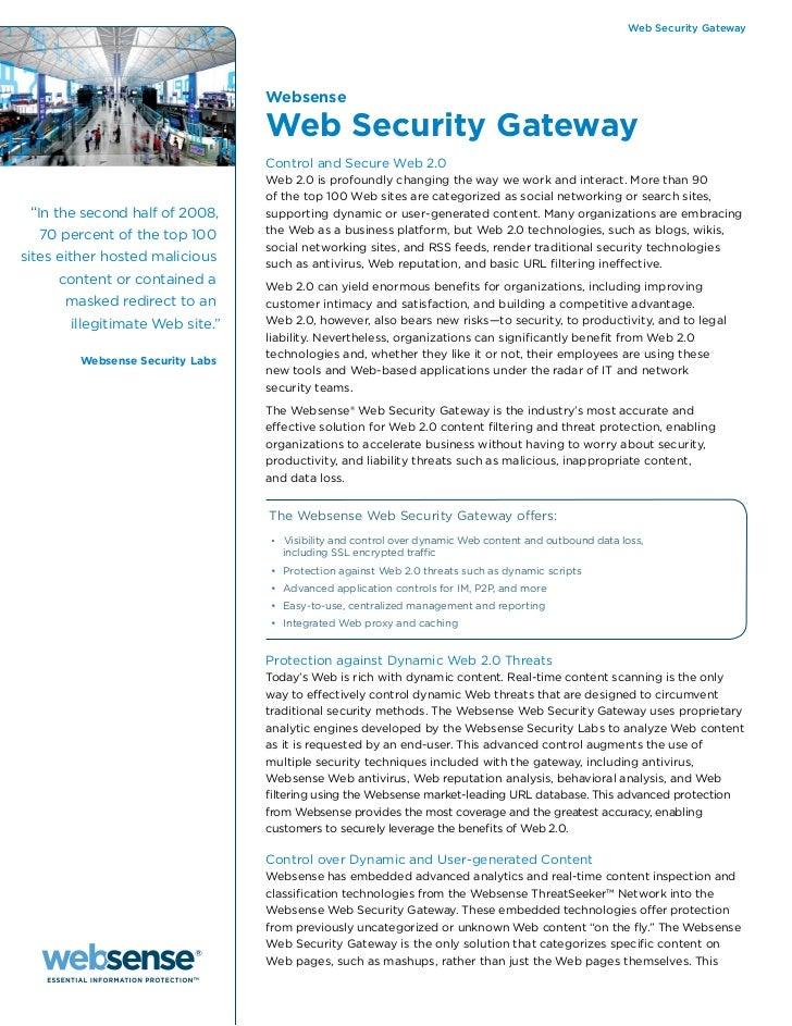 Web Security Gateway                                 Websense                                 Web Security Gateway        ...