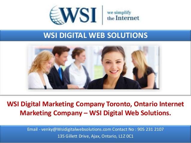 WSI DIGITAL WEB SOLUTIONSWSI Digital Marketing Company Toronto, Ontario Internet   Marketing Company – WSI Digital Web Sol...