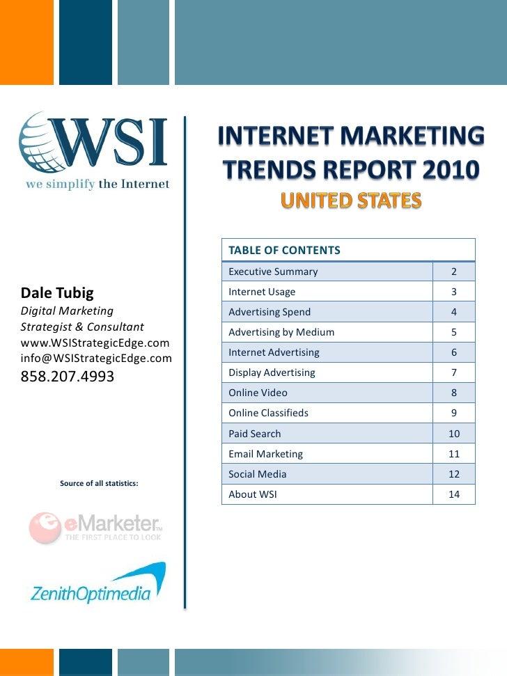 WSI Internet Marketing Trends Report 2010