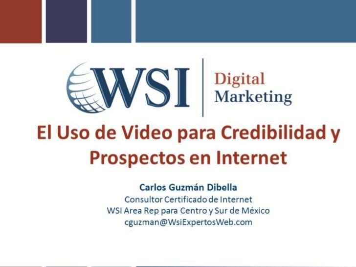 WSI uso del video para vender más