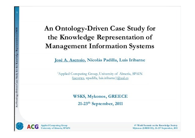 An ontology-driven case study for the knowledge representation of management information systems