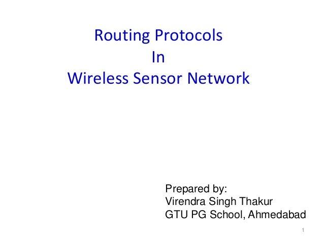 Wireless Sensor Network Routing Protocols