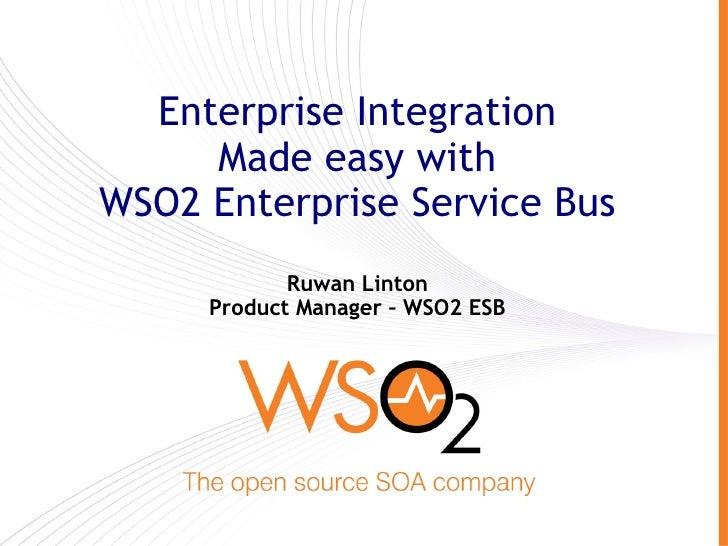 WSO2 ESB Webinar 01 Sept 2009
