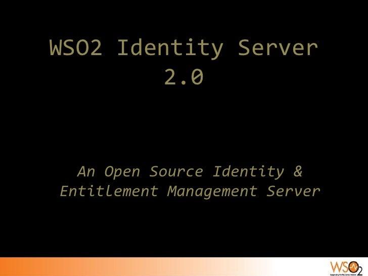WSO2 Identity Server 2.0 Introduction