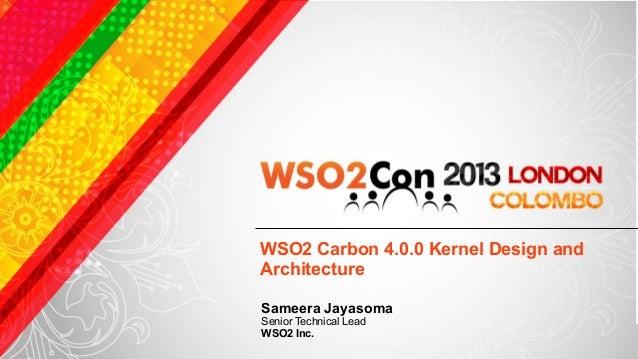 WSO2 Carbon Kernel Design and Architecture