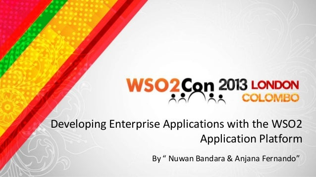 """Developing Enterprise Applications with the WSO2                             Application Platform                   By """" N..."""