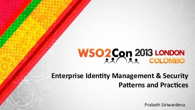 Wso2con identity patterns