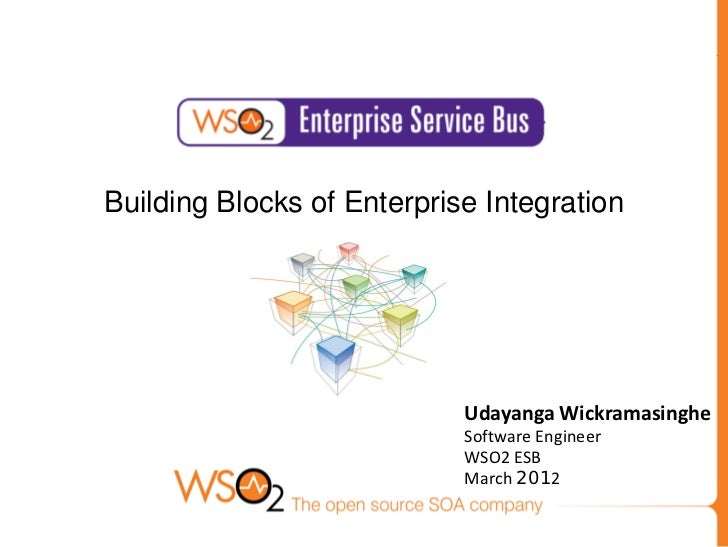 Building Blocks of Enterprise Integration                            Udayanga Wickramasinghe                            So...