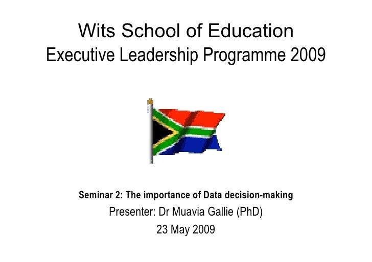 WSoE - Skills Programme Seminar 2 - 2009