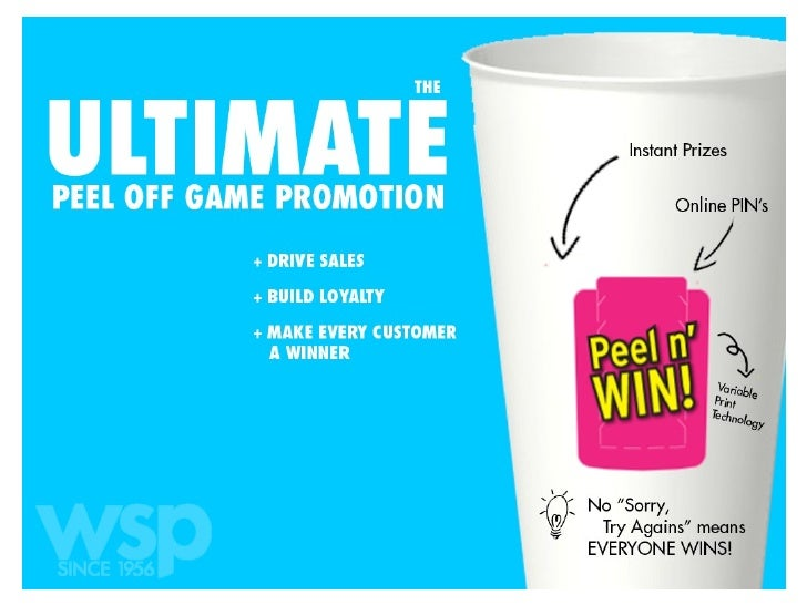The Ultimate Peel Off Game Promotion