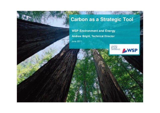 Carbon as a Strategic ToolWSP Environment and EnergyAndrew Bright, Technical DirectorJune 2011