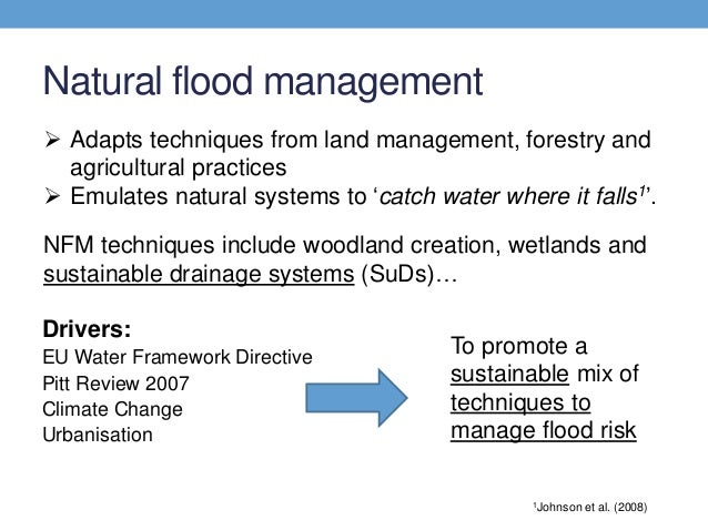 flood management techniques evaluate Parametric evaluation for flood management: techniques for management of flood were critically reviewed and a systematically evaluate conflicting.