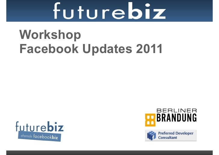 WorkshopFacebook Updates 2011