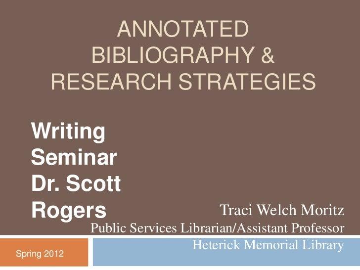 Writing Seminar Rogers