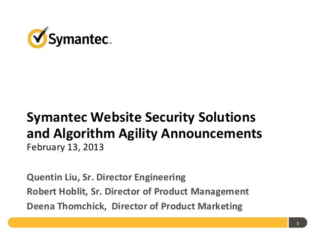 Symantec Web Security Solutions
