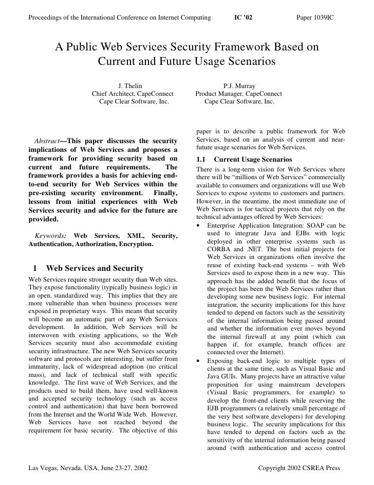 Proceedings of the International Conference on Internet Computing        IC '02                 Paper 1039IC             A...