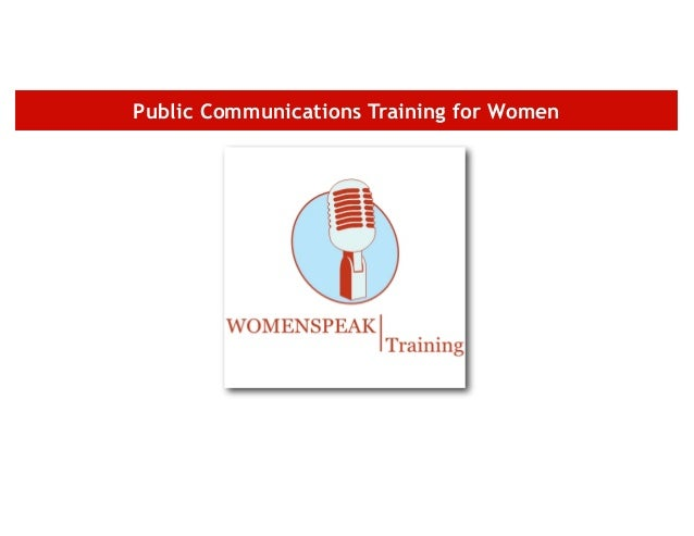 Public Communications Training for Women