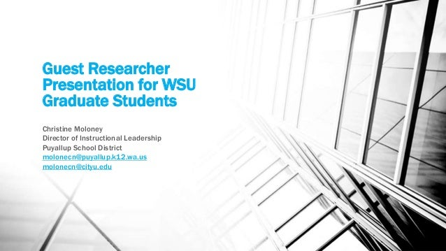 Guest Researcher ~ Christine Moloney