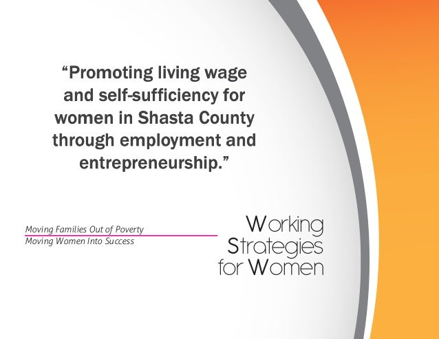 """Promoting living wage        and self-sufficiency for      women in Shasta County      through employment and          en..."