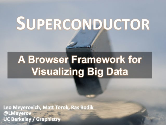 WT-4065, Superconductor: GPU Web Programming for Big Data Visualization, by  Leo Meyerovich and Matthew Torok