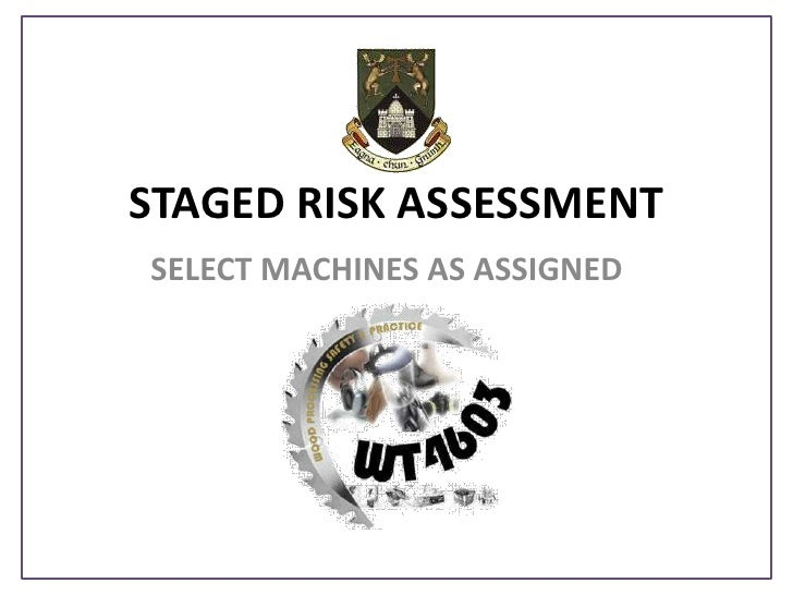 STAGED RISK ASSESSMENT<br />SELECT MACHINES AS ASSIGNED<br />