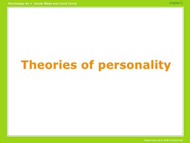 Theories of personality chapter 2
