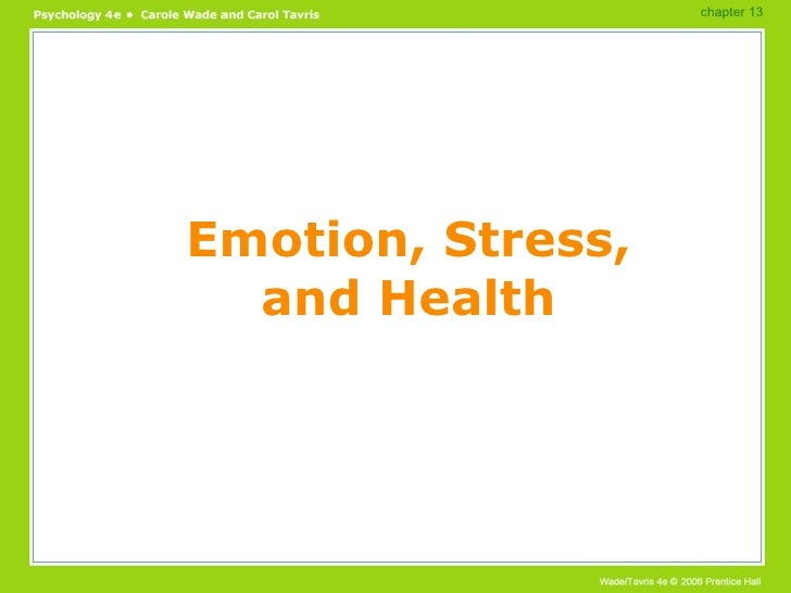 Emotion, Stress, and Health chapter 13