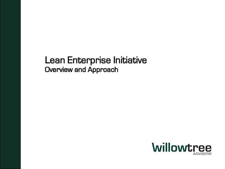 Lean Enterprise Initiative