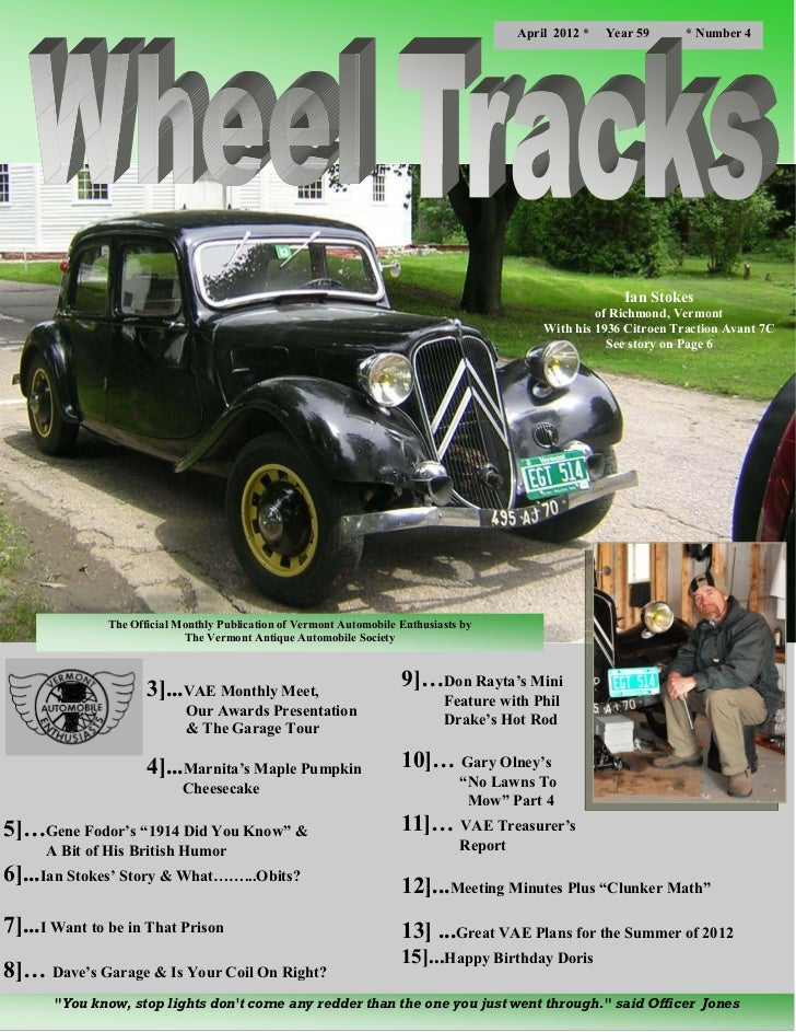 Wheel Tracks April 2012 - Feature Article