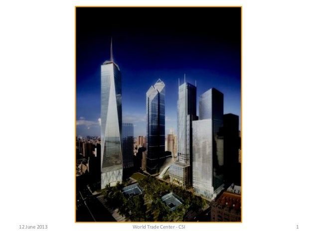 Program and Project Management at the New World Trade Center