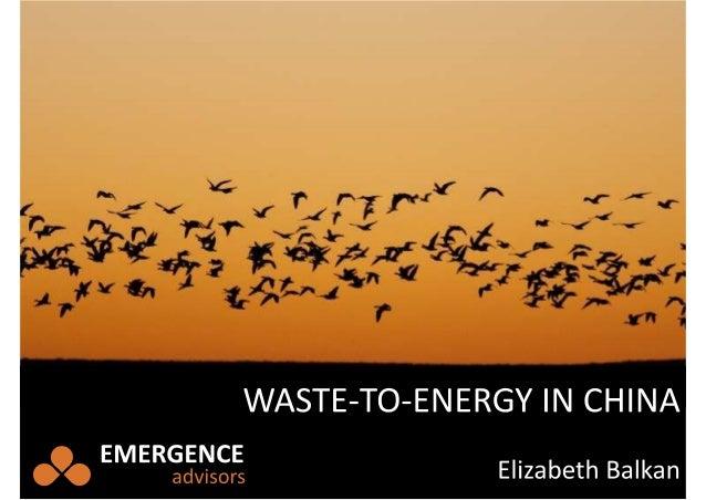 Energizing China's Waste
