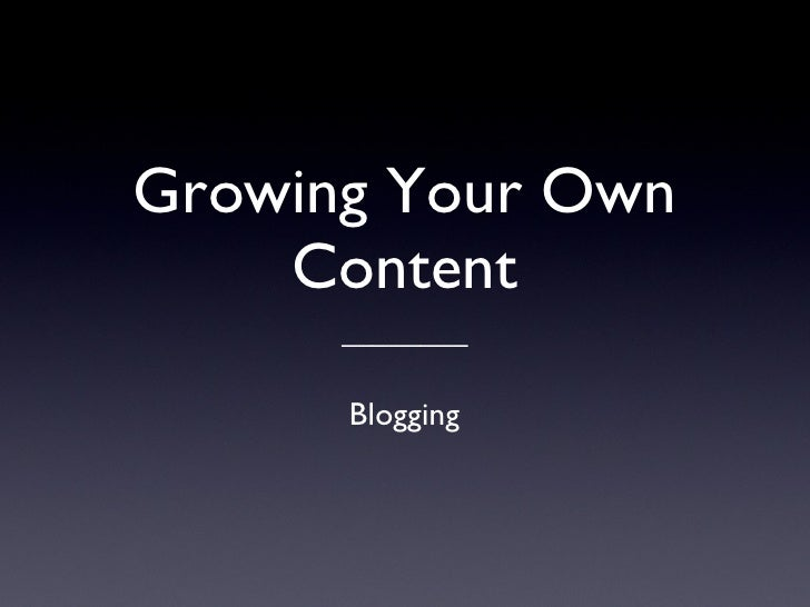 Wtf is a blog?