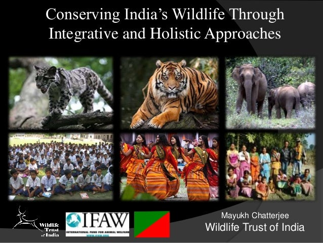 Conserving India's Wildlife Through Integrative and Holistic Approaches Mayukh Chatterjee Wildlife Trust of India