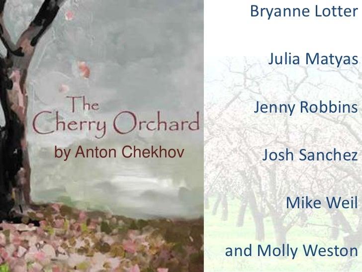 Bryanne Lotter                        Julia Matyas                      Jenny Robbinsby Anton Chekhov       Josh Sanchez  ...