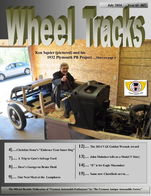 """4]…Christine Stone's """"Embrace Your Inner Dog"""" 7]… A Trip to Gate's Salvage Yard 8]… Dave's Garage on Brake Fluid 9]… Our N..."""