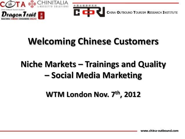 COTRI workshop at WTM London 2012