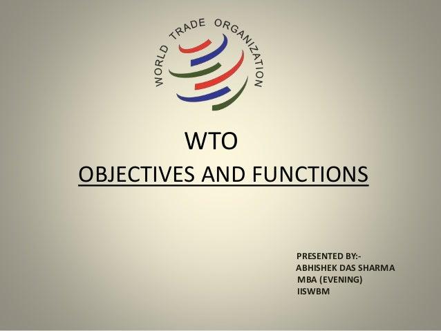 WTO - BRICS Overview