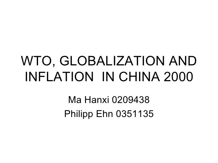 Wto Global And Inflation  In China 2000