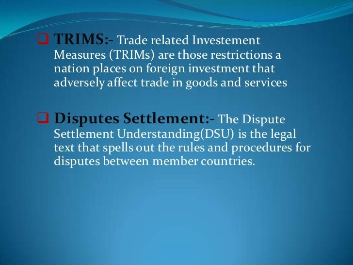 the trade related investment measures agreement trims essay