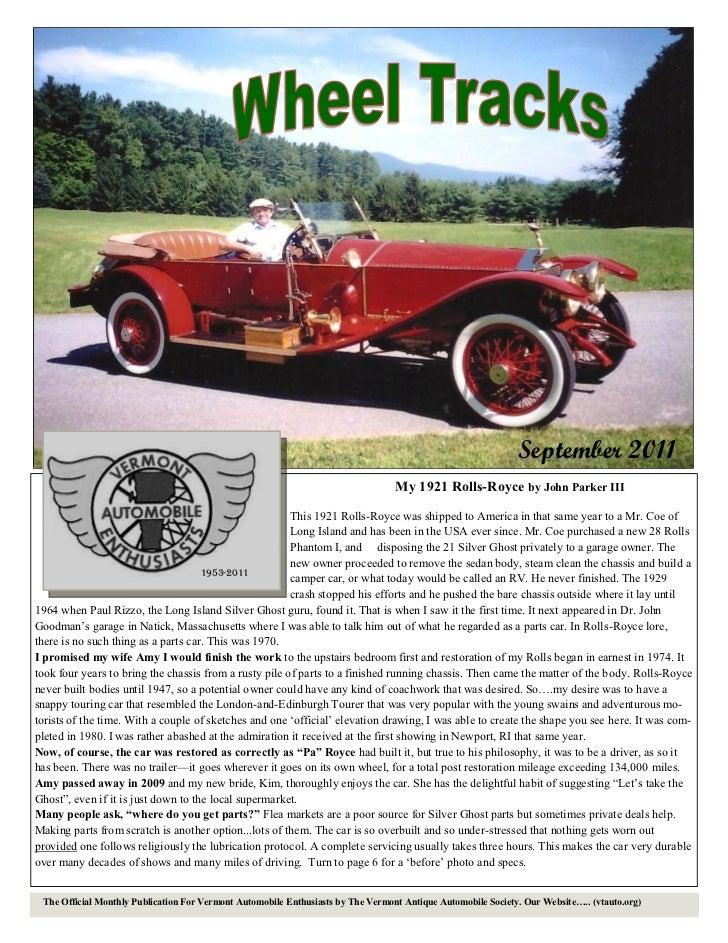 September 2011                                                                                  My 1921 Rolls-Royce by Joh...
