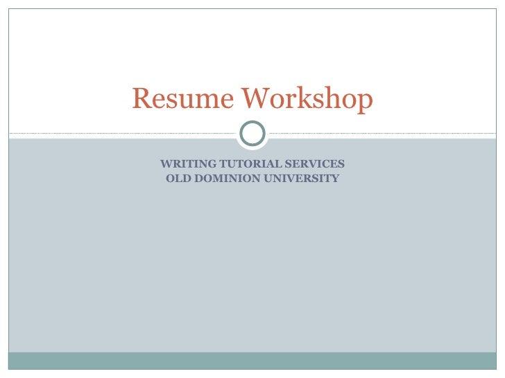 W T S  Resume  Workshop 03