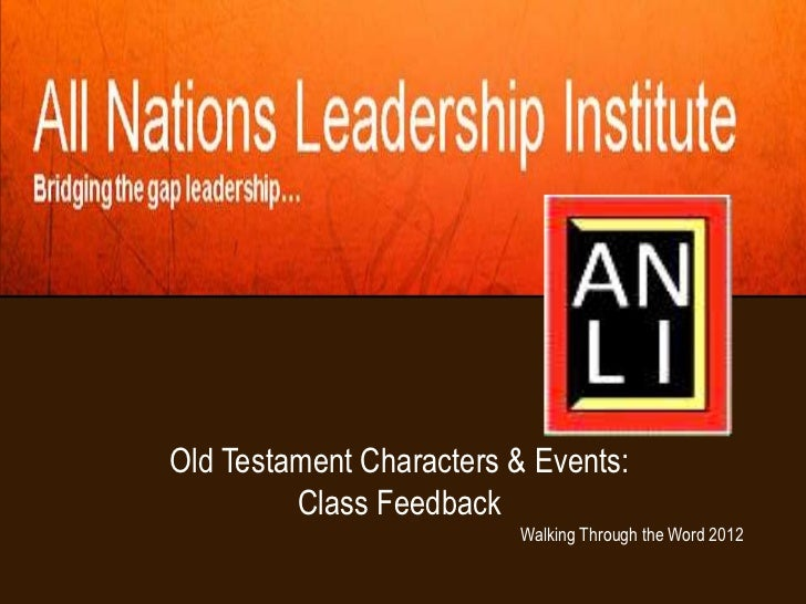 Old Testament: Dispensations, People and Events--Class Collaboration (ANLI)